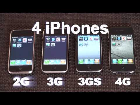 iPhone 2G/3G/3GS/4 Speed Comparison Music Videos