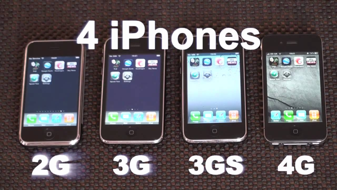 iphone 2g3g3gs4 speed comparison youtube