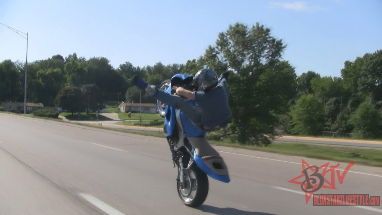 Bike Stunts Videos Youtube Highway Street Bike STUNTS
