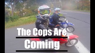 Crazy Guy Calls Cops On Pit Bikes