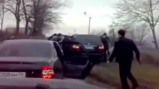 Russian mafia messed w wrong guy  car ramming road rage