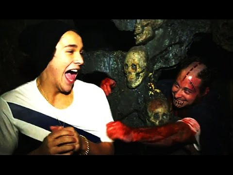 Austin Mahone Freaks Out In Haunted House