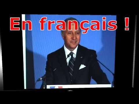Laurent Fabius, merci pour notre langue !