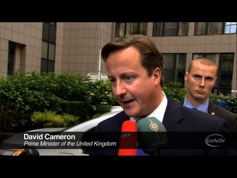 David Cameron Arrives at the European Council Summit - October 2012