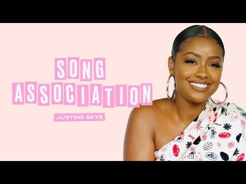 Justine Skye Sings JLo, Beyoncé, and John Legend in a Game of Song Association | ELLE