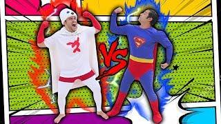 SUPER FOCA VS SUPER HOMEM (QUEM É MAIS FORTE?)