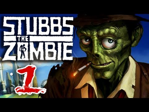 Stubbs the Zombie (Part 1) in Rebel Without a Pulse Xbox 360 Gameplay