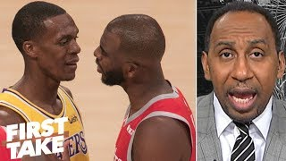 Rajon Rondo ?tried to get away with? spitting at Chris Paul during fight - Stephen A. | First Take