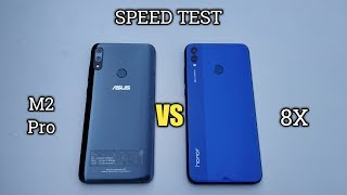 Honor 8X VS Asus Zenfone max pro M2 SPEED TEST!!