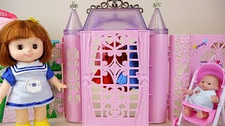 Baby doll house closet washing toys baby Doli play
