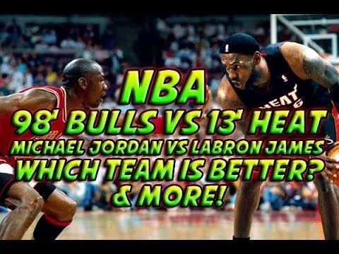 NBA 2K14: 2013 Miami Heat Vs 1998 Chicago Bulls - Michael Jordan Vs Lebron James & More!