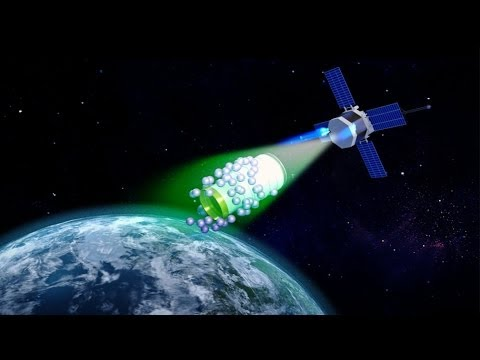 Space debris clean up using tractor beam of static electricity