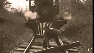 amazing train tricks from old movie