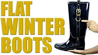 Flat Winter Boots | Kaye Wright