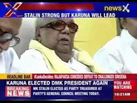 M Karunanidhi re-elected as party President