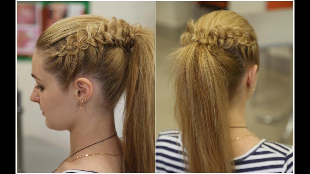 Прически из кос две косы в хвост