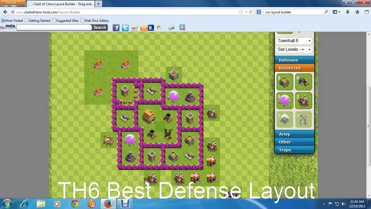 Th6 best defense layout youtube