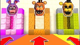 Minecraft PE : DO NOT CHOOSE THE WRONG SECRET BASE! (Five Nights at Freddy's)