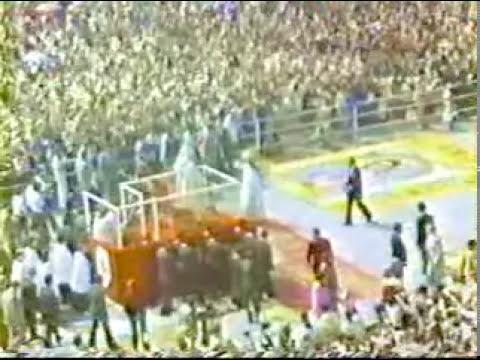 El Papa Juan Pablo II llegada a Mexico-película