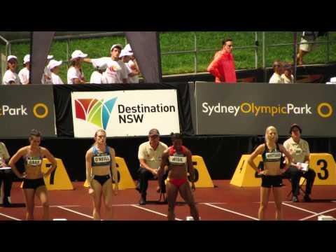 100M Sally Pearson 11.29 Sydney Track Classic 2014