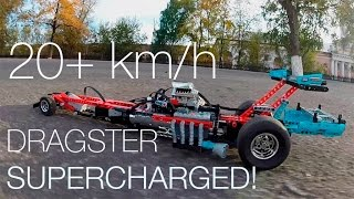 20+km/h САМЫЙ БЫСТРЫЙ VERY FAST LEGO Technic Dragster (42050 mod) with SBrick and GoPro