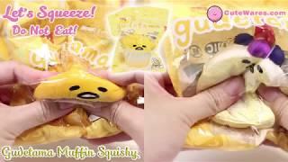 Enjoy Squeezing Sanrio Gudetama Lazy Egg Muffin Squishy