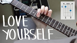 """Download Lagu How To Play """"Love Yourself"""" Exactly Like The Recording PART I - Justin Bieber, Easy Guitar Lesson Gratis STAFABAND"""