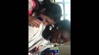 Weird girl biting victorious