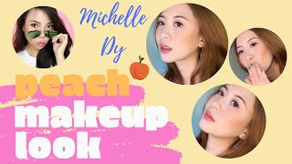 I TRIED FOLLOWING A MICHELLE DY MAKEUP TUTORIAL | PEACH MAKEUP LOOK | VLOG #34