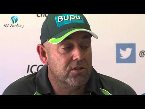 Darren Lehmann lauds the facilities at the ICC Academy