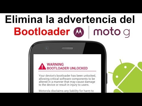Motorola Moto G: Eliminar advertencia al desbloquear el Bootloader (Logo Warning) [HD]