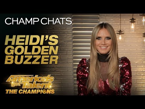 Heidi Klum Chats About Giving Deadly Games The Golden Buzzer - America's Got Talent: The Champions