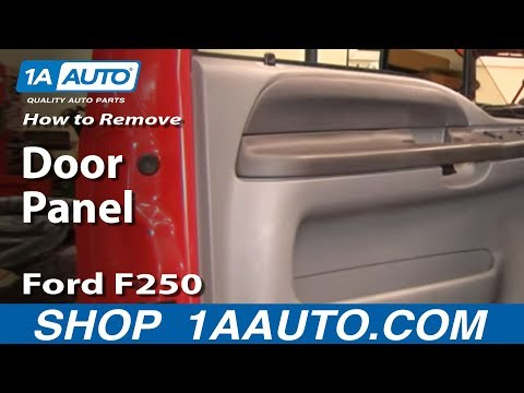 How To Install Replace Remove Door Panel Ford F250 F350 Super Duty 99-07 1AAuto.com