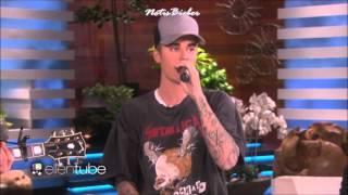 Justin Bieber en Ellen hablando de Selena Gomez (ESPAÑOL SUBTITULADO)