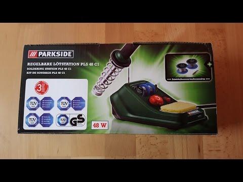 Parkside PLS 48 C1 regelbare Lötstation, Lötkolben, Soldering Bolt, 48 W - [Unboxing! 4K]