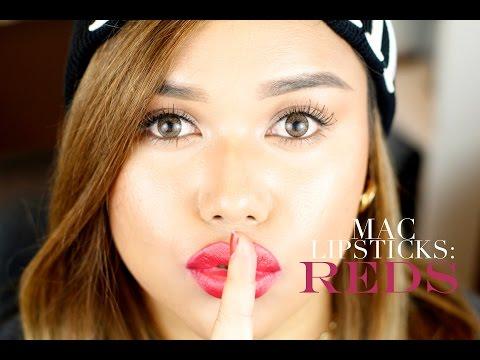 MAC Lipsticks: {Reds} w/ 24 Lip Swatches