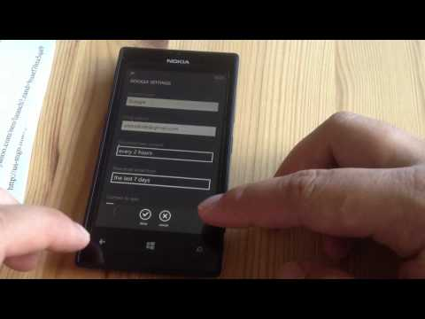 How to Delete your E-mail Account on your Nokia Lumia 520 AT&T Windows 8 Phone