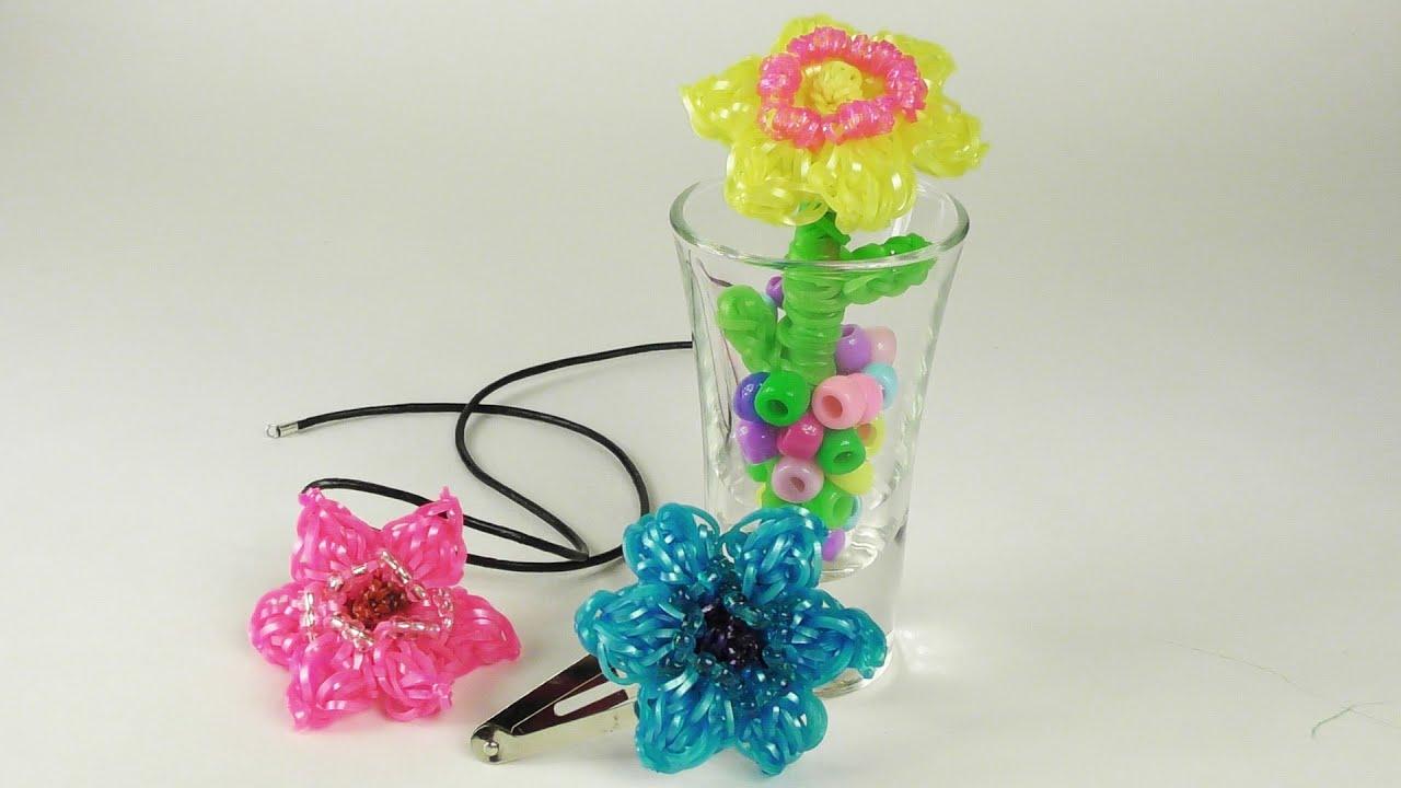 Как из резиночек сделать цветок из 190