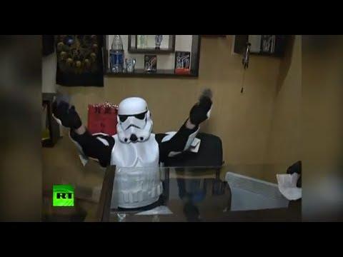 'Darth Vader' & Stormtroopers Raid a Smoke Shop