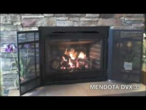 Gas Fireplace DXV 35 by Mendota - YouTube