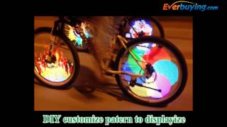 YQ8003 Colorful Diy Type Bicycle Wheel Light Street Shooting Video