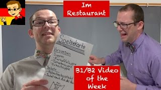 Im Restaurant - Learn Intermediate German for B1/B2 #15 - Deutsch lernen
