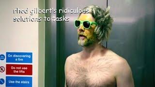 rhod gilbert having the weirdest solutions to tasks in taskmaster