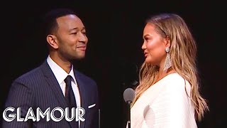 John Legend 39 S Tearful Tribute To Chrissy Teigen Glamour Woty 2018