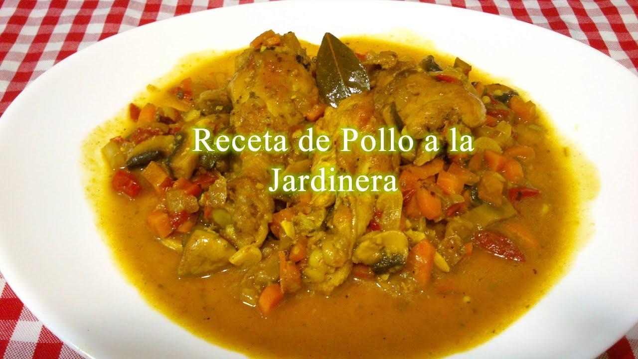 Pollo a la Cacerola Receta Mexicana Pollo a la Jardinera Receta