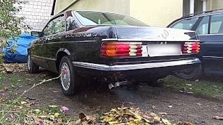 💥 MERCEDES-BENZ C126 500 SEC 5.0 V8 [ODWRÓCENI/ŚLICZNOTKA](stock exhaust sound/REVS)[#eXhaustTUBE]