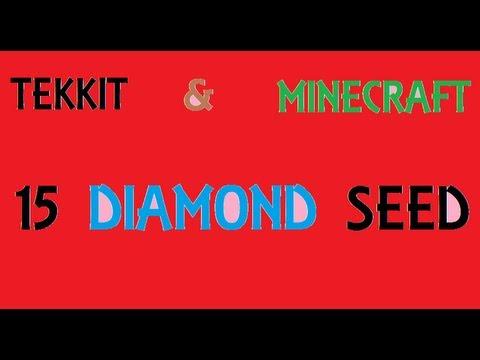 15 DIAMOND SEED!!! [Tekkit] [Minecraft] [Emeralds] [Gold] [Iron] [Village [Pyramid]