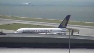 Singapore Airlines A380- 800 Landing Hong Kong