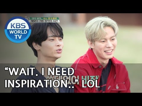N and Hongbin's creative writing time in PAI! XD [Battle Trip/2018.06.03]