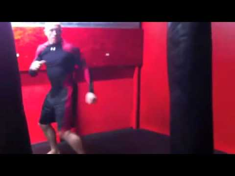Joe Rogan teaches GSP the turning side kick